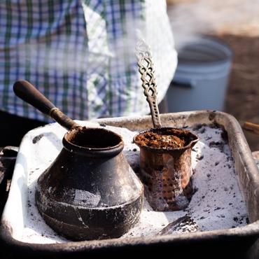 Kaffeewelt-zubereitung